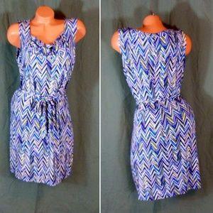 Dana Buchman Dress Size Large Stretch Herringbone